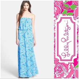 Lilly Pulitzer Mermaids Tail Maxi size S